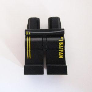Black w/ Yellow Lining & '#1 Batman' Fan Down Side