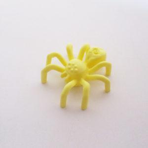 Spider w/ Elongated Abdomen - Bright Light Yellow
