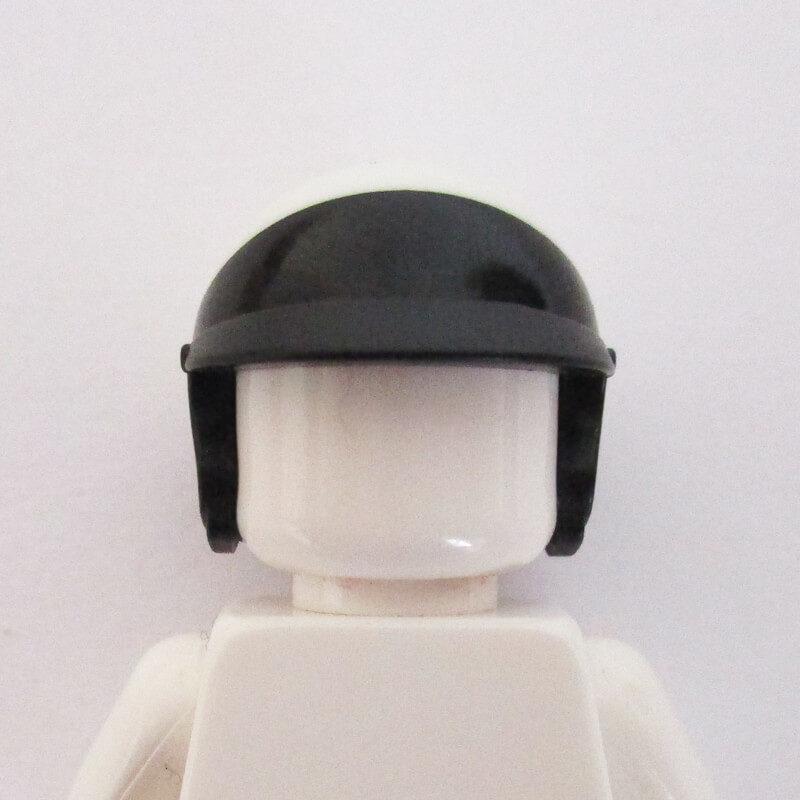 Open Face Helm - Black & White