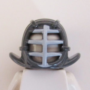 Kendo Helm - Dark Grey w/ Light Grey