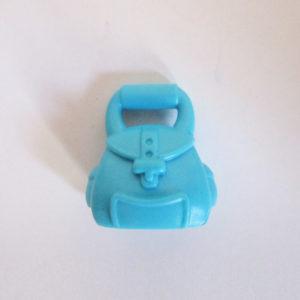 Handheld Bag w/ Buckle - Azure Blue