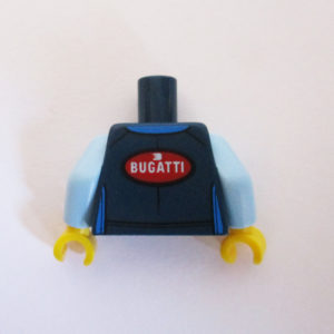 Dark Blue & Blue Racing Suit w/ 'Bugatti' Logo