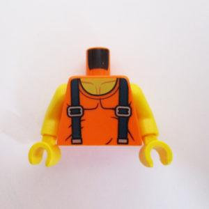 Orange w/ Dark Blue Shoulder Straps