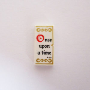 "White Tile w/ ""Once Upon A Time"" & Gold Script"