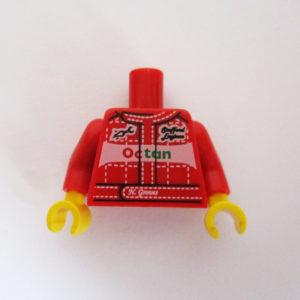 Red Racing Suit w/ 'OCTAN' Oil Logo