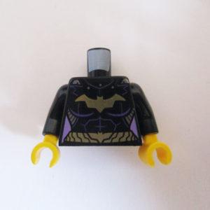 "Black w/ Gold Belt & ""Batman"" Logo"