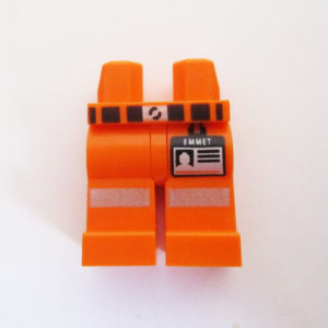 "Orange w/ Black Belt & ""EMMET"" Identity Card"
