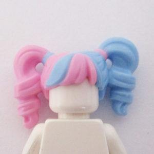 Twirly Pigtails - Light Pink & Blue
