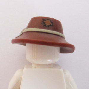Brim Hat w/ Knotted Band - Brown w/ Patch