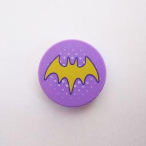 """Lavender Tile w/ Yellow """"Batwoman"""" Symbol"""