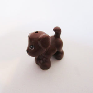 Puppy - Dark Brown w/ Tongue Out