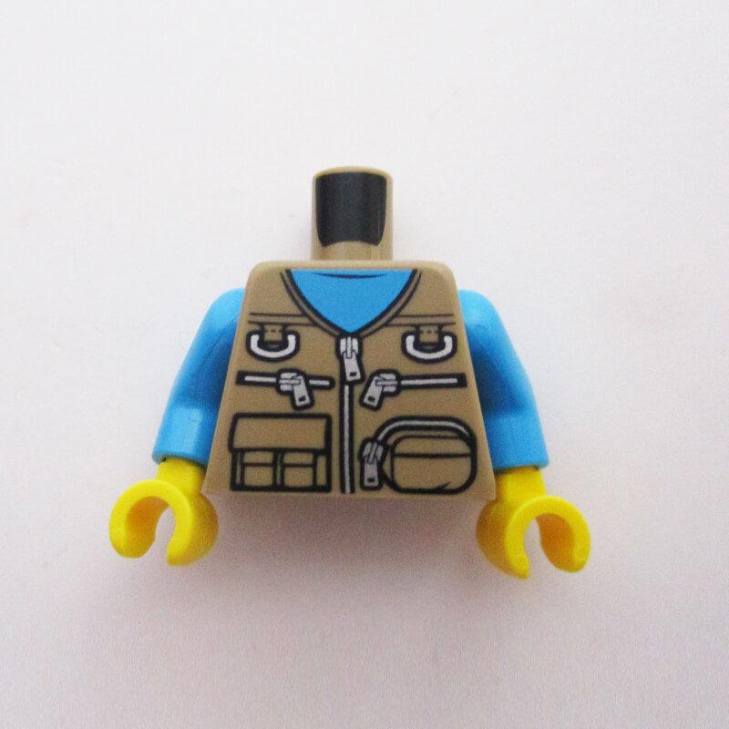 Azure Blue w/ Tan Vest & Zippers, Pockets