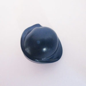 Dark Blue Hat w/ Dark Brown Hair On Sides