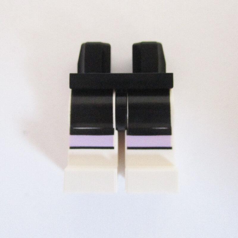 Black & Light Purple w/ White Boots