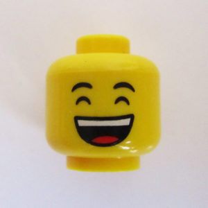 Dual Sided Head - Huge Happy Smile w/ Tongue Showing