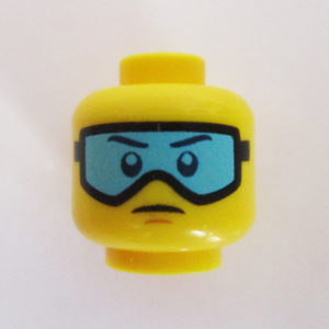 Black Goggles w/ Turquoise Lenses & Straight Face