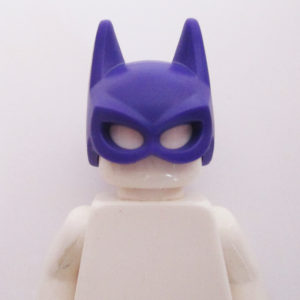 Bat Girl Mask - Purple w/ Dark Red Twirly Pony Tail