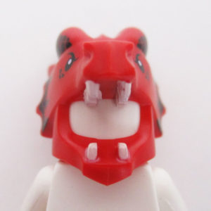 Dragon Mask w/ Horns - Red