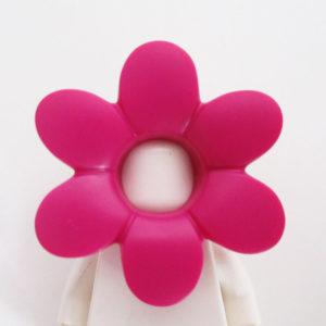 Flower Mask - Dark Pink w/ Green