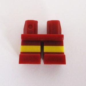 Dark Red w/ Yellow Stripe