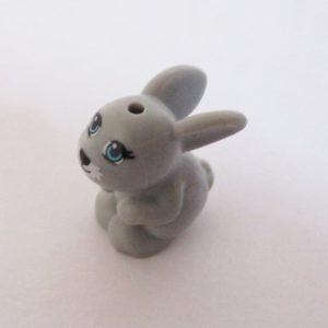 Bunny, Crouching - Light Grey
