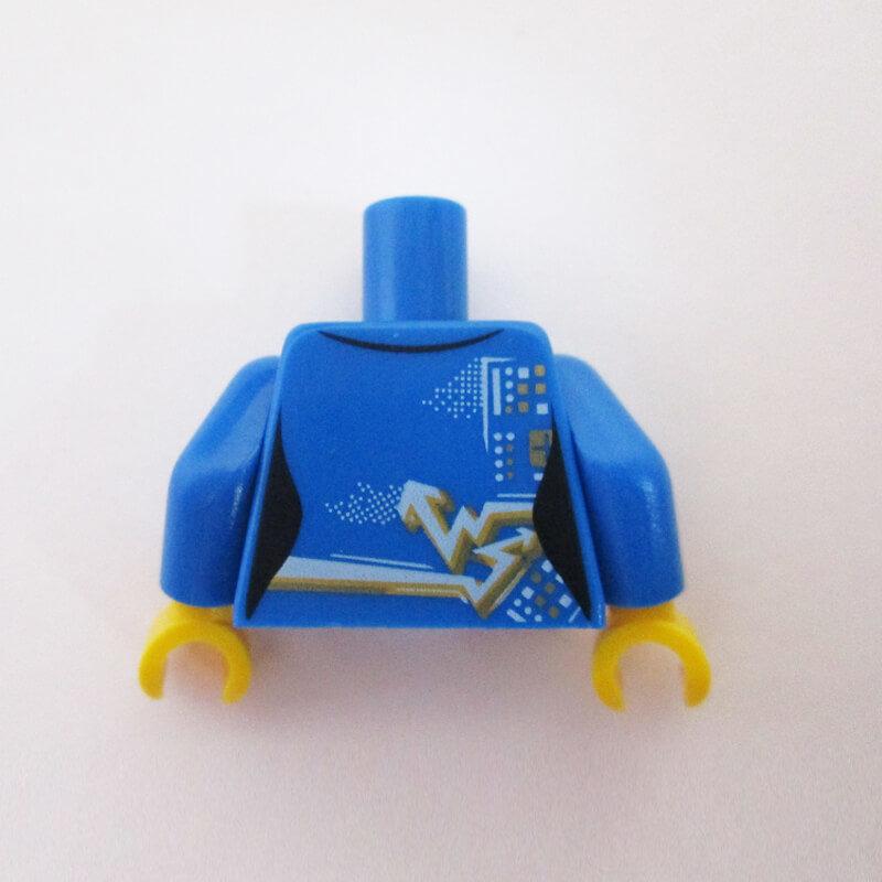 Bluw w/ Zipper & Light Blue/Gold Graphics