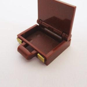 Briefcase w/ Gold Locks - Brown