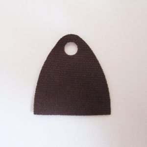 Dark Brown, Short Version, Single Hole - Stretchable Fabric