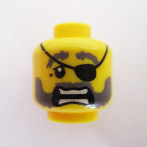 Dual Sided Head – Beard w/ Eye Patch & Open Mouth