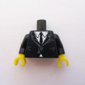 Black Buttoned Jacket w/ White Shirt & Tie