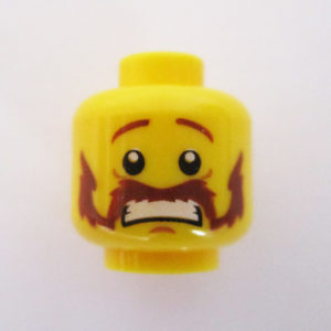 Handlebar Mustache w/ Scared Look