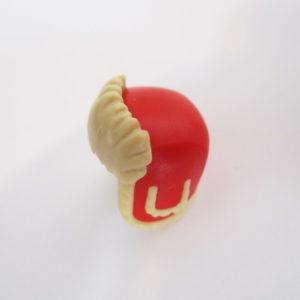 Ushanka Cap - Red & Light Tan