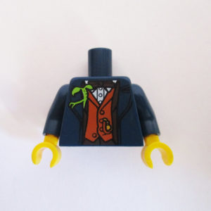 Dark Blue Jacket w/ Dark Orange Waistcoat & Bow Tie