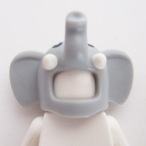 Elephant Mask w/ Trunk - Light Grey