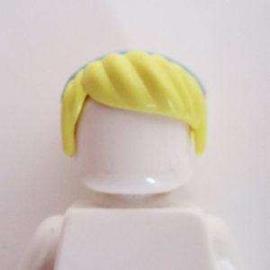 Side Parting w/ Bun & Blue Headband