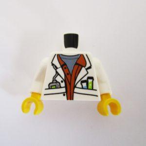 White Lab Coat w/ Shirt & Beakers in Pocket