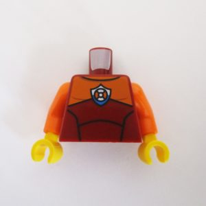 Dark Red & Orange Wetsuit w/ Rescue Tyre Icon
