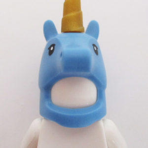 Unicorn Mask - Blue w/ Gold Horn