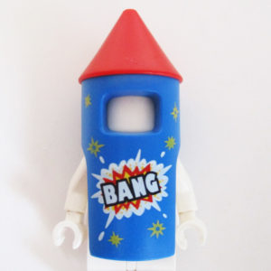"Rocket Suit - Blue & Red w/ ""BANG"""