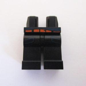 Black w/ Orange Belt & Dark Blue Pockets