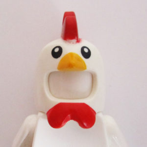 Chicken Mask - White, Yellow & Red