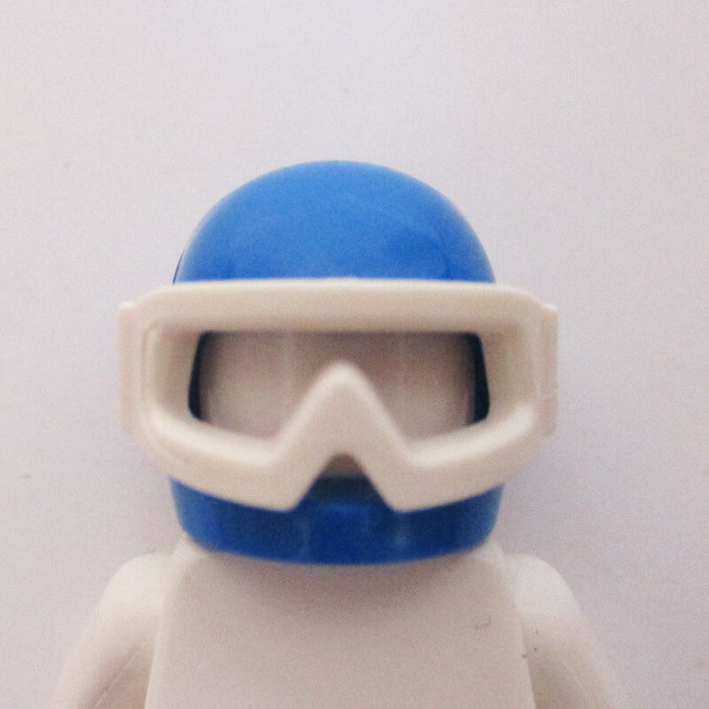 Standard Helm w/ Sports Goggles - Blue