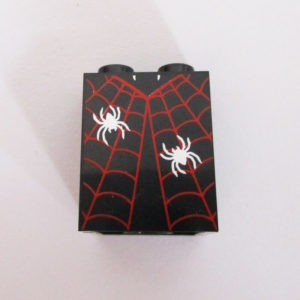 Black w/ Red Spider Web & Spiders