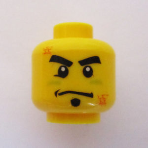 Dual Sided Head - Straight Face w/ Scuff Marks & Goatee
