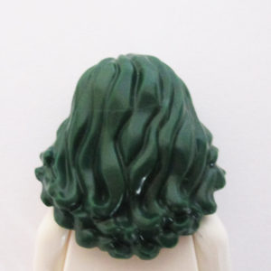 Long & Wavy w/ Off Center Parting - Dark Green