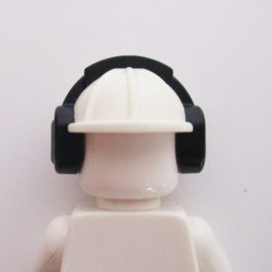 Construction Helm w/ Ear Protectors - White