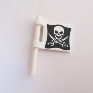 Flag - White w/ Skull & Pirate Swords