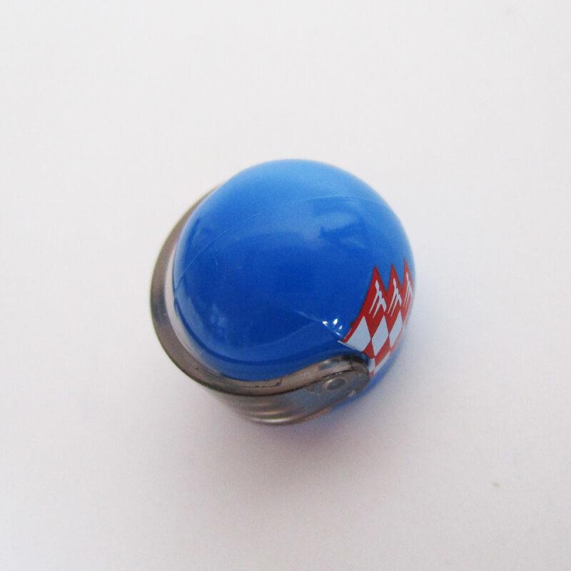 Standard Helm w/ Checkered Design - Blue