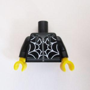 Black w/ Zipper & White Spiderweb Design