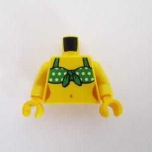 Green Tied Bikini Top w/ Dots